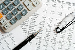 Financial analysis and accounting Royalty Free Stock Photos