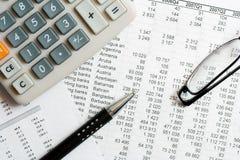 Financial analysis and accounting Royalty Free Stock Photos