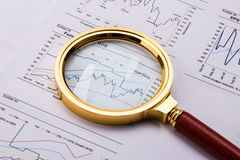 Financial analysis and accounting Stock Images