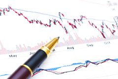 Financial analysis background Royalty Free Stock Image