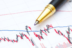 Financial analysis background Stock Photography