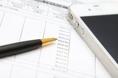 Financial analysis and balance Stock Photography