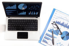 Financial analysis with business chart 1 Royalty Free Stock Photography