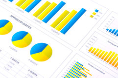 Financial Analysis with charts Royalty Free Stock Photo