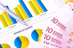 Financial Analysis with charts Royalty Free Stock Images