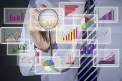 Financial analysis concept Stock Photography