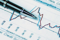 Financial analysis concept Stock Image