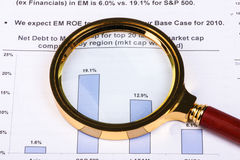 Financial analysis concept. Inancial concept including statistics, graphs, charts Royalty Free Stock Image