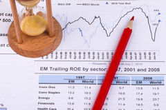 Financial analysis concept. Inancial concept including statistics, graphs, charts Royalty Free Stock Photography
