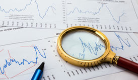 Financial analysis concept Stock Photo