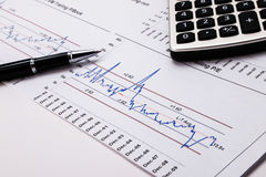 Financial analysis Royalty Free Stock Photography