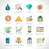 Financial Analysis Icons Set Stock Image