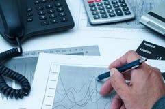 Financial analysis Stock Photo