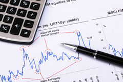 Financial analysis report. And accounting concept Royalty Free Stock Photography