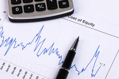 Financial analysis report. And accounting concept Royalty Free Stock Images