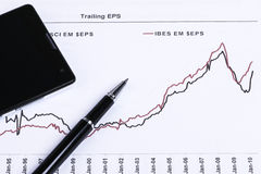 Financial analysis report. And accounting concept Stock Photo