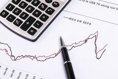 Financial analysis report. And accounting concept Stock Photography