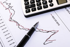 Financial analysis report. And accounting concept Stock Image