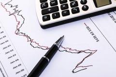 Financial analysis report Stock Image
