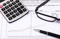 Financial analysis report. And accounting concept Stock Photos