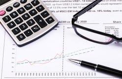 Financial analysis report Stock Photos