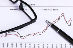 Financial analysis report Stock Photos