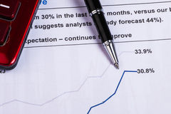 Financial analysis report Stock Images