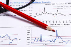 Financial analysis report Stock Photography