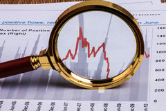 Financial analysis report Stock Image