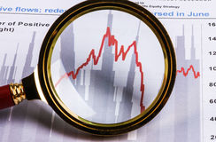 Financial analysis report Stock Photo
