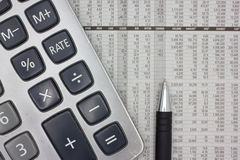 Financial analysis Stock Photography