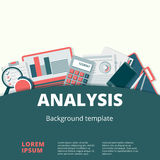 Financial analysis vector background design.. Financial analysis vector concept. Audit and accounting process illustration Stock Photos