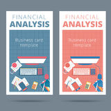 Financial analysis vector business card concept. Audit and accou Stock Photo
