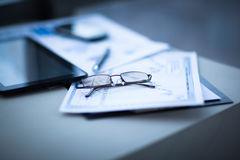 Financial analysis of workplace Stock Photography