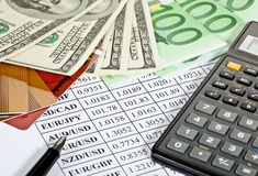 Financial analytics Stock Photos