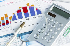 Financial analytics Stock Photo