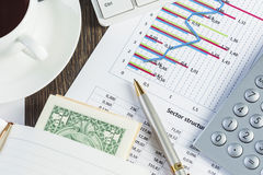 Financial analytics Royalty Free Stock Photo