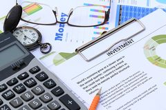 Financial And Economic News Update Stock Image