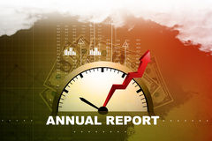 Financial annual report concept. In color background Royalty Free Stock Images