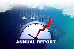 Financial annual report concept. In color background Royalty Free Stock Photos