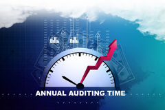Financial annual report concept. In color background Stock Photo