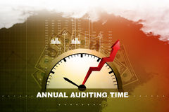 Financial annual report concept. In color background Stock Images