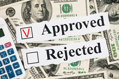 Financial approved or rejected concept Royalty Free Stock Photos