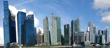 Financial area of Singapore Royalty Free Stock Image