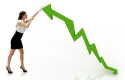 Financial arrow growth Stock Photos
