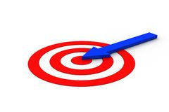 Financial arrow hit on the target icon Royalty Free Stock Photos