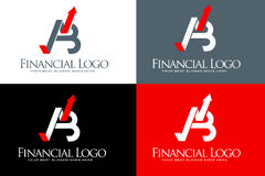 Financial Arrow Logo. An illustration of a business company logo made out of two letters A and B Royalty Free Stock Photography