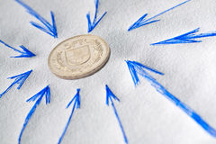 Financial attention to Swiss Franc Stock Photos