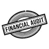 Financial Audit rubber stamp Royalty Free Stock Image