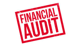 Financial Audit rubber stamp Stock Photo
